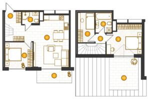 ЖК Royal Residence: планировка 2-комнатной квартиры 90.24 м²