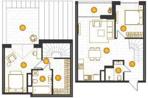 ЖК Royal Residence: планировка 2-комнатной квартиры 97.08 м²