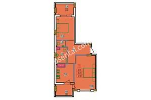 ЖК Розенталь: планировка 2-комнатной квартиры 62.99 м²