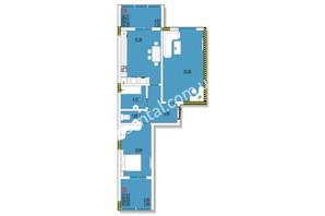 ЖК Розенталь: планировка 2-комнатной квартиры 65.13 м²