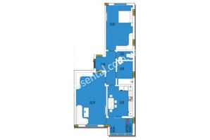 ЖК Розенталь: планировка 2-комнатной квартиры 59.38 м²