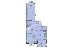 ЖК Розенталь: планировка 2-комнатной квартиры 64.99 м²