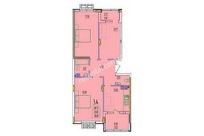 ЖК Розенталь: планировка 3-комнатной квартиры 78.84 м²