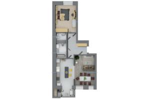 ЖК Rubicon City: планировка 2-комнатной квартиры 63.2 м²