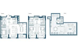 ЖК Rusaniv Residence: планировка 2-комнатной квартиры 163.49 м²