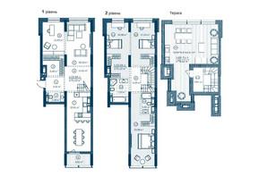 ЖК Rusaniv Residence: планировка 3-комнатной квартиры 170.04 м²