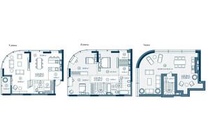 ЖК Rusaniv Residence: планировка 4-комнатной квартиры 178.39 м²