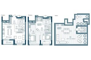 ЖК Rusaniv Residence: планировка 1-комнатной квартиры 137.62 м²