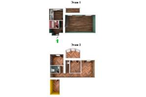 ЖК Ривьера: планировка 3-комнатной квартиры 124 м²