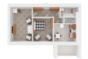 ЖК Сади Вишневі: планировка 2-комнатной квартиры 56 м²