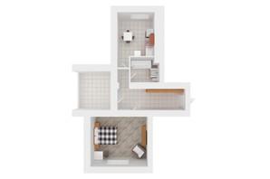 ЖК Сади Вишневі: планування 1-кімнатної квартири 48 м²