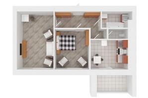 ЖК Сади Вишневі: планування 2-кімнатної квартири 56 м²