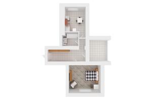 ЖК Сади Вишневі: планування 2-кімнатної квартири 58 м²