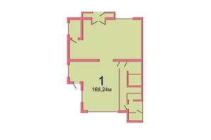 ЖК Сагайдачный: планировка помощения 168.24 м²