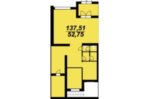 ЖК Сагайдачный: планировка помощения 124.1 м²