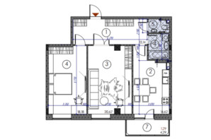 ЖК Саванна сити: планировка 2-комнатной квартиры 90 м²