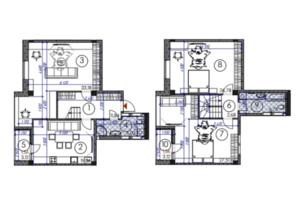 ЖК Саванна сити: планировка 3-комнатной квартиры 137.25 м²
