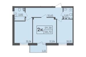 ЖК Scandia: планировка 2-комнатной квартиры 74 м²