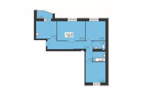 ЖК Счастливый: планировка 3-комнатной квартиры 84.9 м²