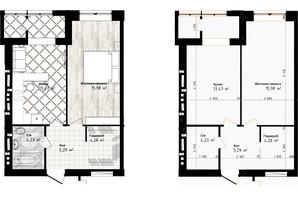 ЖК Sea Town: планування 1-кімнатної квартири 47.25 м²