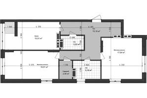 ЖК Sea Town: планування 2-кімнатної квартири 75.49 м²