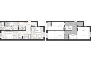 ЖК Sea Town: планування 2-кімнатної квартири 75.66 м²