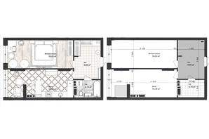ЖК Sea Town: планування 1-кімнатної квартири 48.83 м²