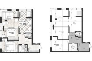 ЖК Sea Town: планування 3-кімнатної квартири 72.93 м²