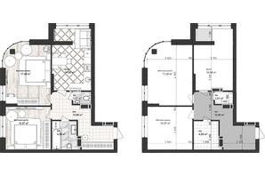 ЖК Sea Town: планування 2-кімнатної квартири 61.29 м²