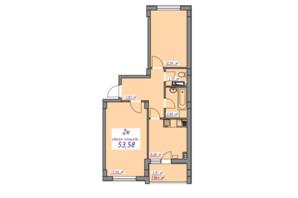 ЖК Седьмое небо: планировка 2-комнатной квартиры 53.5 м²