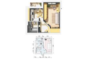 ЖК Семейный Городок: планировка 1-комнатной квартиры 34.9 м²