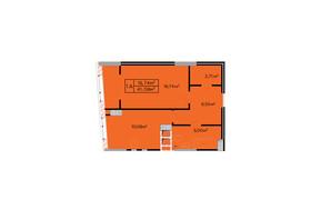 ЖК Щасливий: планировка 1-комнатной квартиры 41.5 м²