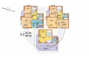 ЖК Шевченковский: планировка 5-комнатной квартиры 187.4 м²