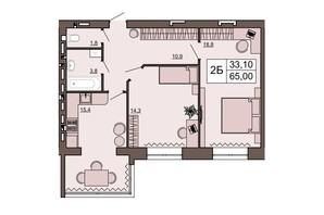 ЖК Шоколад: планировка 2-комнатной квартиры 65 м²