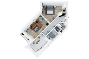 ЖК Сказка: планировка 2-комнатной квартиры 71.09 м²