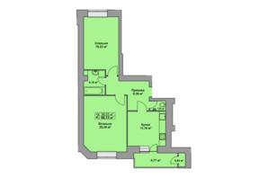 ЖК Східна Брама: планування 2-кімнатної квартири 66.13 м²