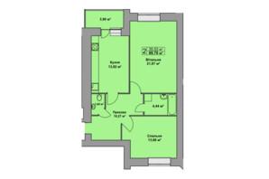 ЖК Східна Брама: планування 2-кімнатної квартири 69.7 м²