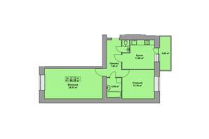 ЖК Східна Брама: планировка 2-комнатной квартиры 66.29 м²