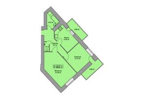 ЖК Східна Брама: планировка 2-комнатной квартиры 68.67 м²
