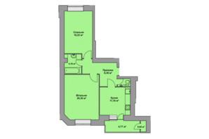 ЖК Східна Брама: планировка 2-комнатной квартиры 66.13 м²