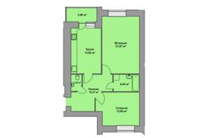 ЖК Східна Брама: планировка 2-комнатной квартиры 69.7 м²