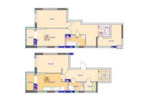 ЖК Sky: планировка 3-комнатной квартиры 110.7 м²