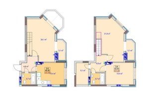 ЖК Sky: планировка 3-комнатной квартиры 103.1 м²