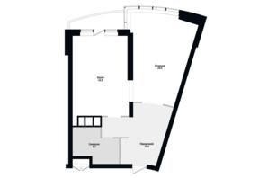 ЖК Skyline Residences: планировка 1-комнатной квартиры 70 м²