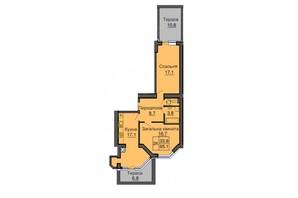 ЖК Софія Сіті: планування 2-кімнатної квартири 65.1 м²