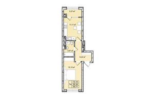 ЖК Софіївка: планування 1-кімнатної квартири 39.7 м²