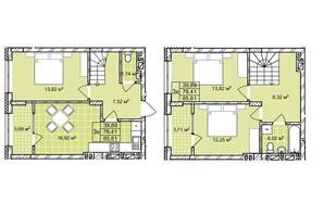 ЖК Софіївка: планування 3-кімнатної квартири 85.8 м²
