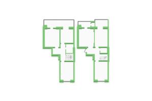 ЖК Софіївка: планування 5-кімнатної квартири 135.2 м²