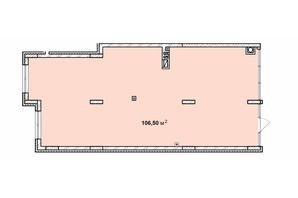 ЖК Софиевка: планировка помощения 106.5 м²