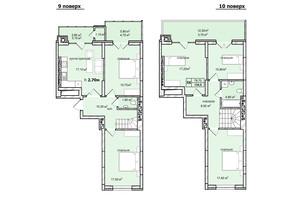 ЖК Софиевка: планировка 5-комнатной квартиры 134 м²